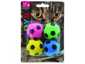 Hračka MAGIC CAT míček pěnový fotbalový 3,75 cm 4ks
