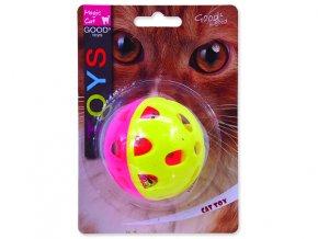 Hračka MAGIC CAT míček neonový jumbo s rolničkou 6 cm
