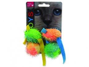 Hračka MAGIC CAT myš a koule s catnipem 5 cm 4ks