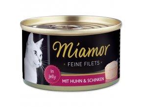 MIAMOR Feine Filets kuře + šunka v želé 100g