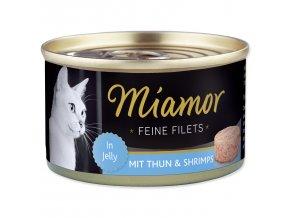 MIAMOR Feine Filets tuňák + krevety v želé 100g