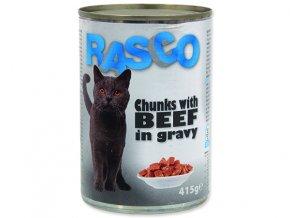 RASCO Cat hovězí kousky ve šťávě 415g