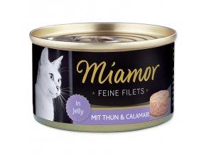 MIAMOR Feine Filets tuňák + kalamáry v želé 100g