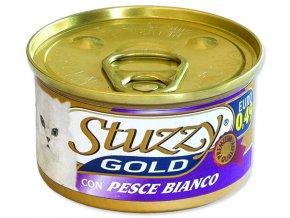 STUZZY Cat Gold bílá ryba 85g
