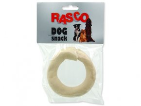 Kruh RASCO Dog buvolí bílý 8,9 cm 1ks