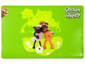 Podložka pod misky TRIXIE Shaun the Sheep & Bitzer zelená 44 x 28 cm