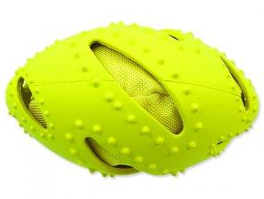 Hračka DOG FANTASY TPR rugby míč žlutá 16 cm