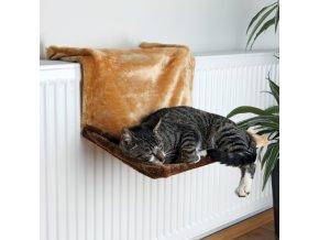 Odpočívadlo TRIXIE de Luxe na radiátor hnědé 45 x 24 x 31 cm