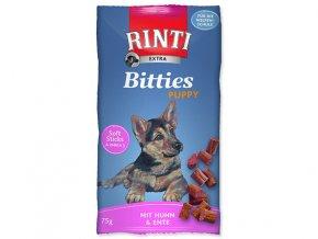 RINTI Extra Bitties Puppy kuře + kachna 75g