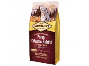 CARNILOVE Fresh Chicken & Rabbit Gourmand for Adult cats 6kg