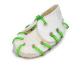 Bota z kůže bílá