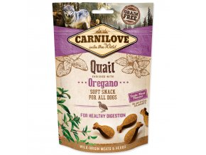 CARNILOVE Dog Semi Moist Snack Quail enriched with Oregano 200g