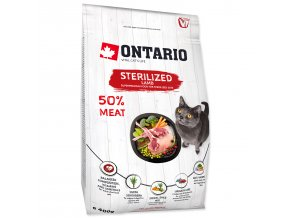 ONTARIO Cat Sterilised Lamb 0,4kg