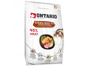 ONTARIO Cat Sterilised 7+ 0,4kg