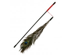 Hračka TRIXIE tyčka s pavím peřím 47 cm