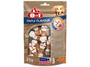 Kosti žvýkací 8in1 Triple Flavour XS 21ks