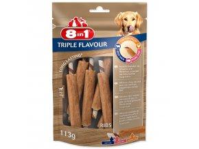 Žebírko žvýkací 8in1 Triple Flavour 6ks
