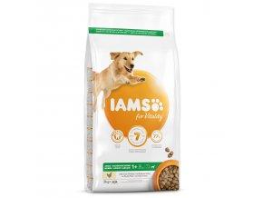 IAMS Dog Adult Large Chicken 3kg  + IAMS Naturally CAT mrazem sušené 100% kuřecí kostky 25g