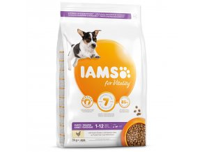 IAMS Dog Puppy Small & Medium Chicken 3kg