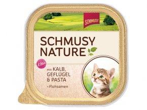 Vanička SCHMUSY Nature Kitten telecí + drůbež 100g
