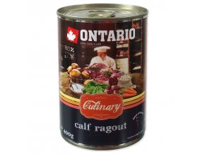 Konzerva ONTARIO Culinary Calf Ragout with Duck 400g