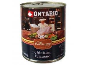 Konzerva ONTARIO Culinary Chicken Fricasse 800g