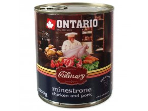 Konzerva ONTARIO Culinary Minestrone Chicken and Pork 800g