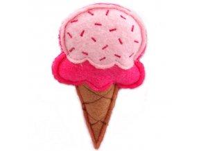 zmrzlina s catnipem růžová 10 cm