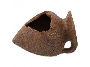 Dekorace AQUA EXCELLENT Amfora hliněná 10,5 cm