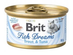 Brit cat Fish Dreams konzerva Trout & Tuna 80 g