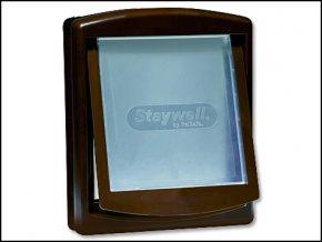 Dvířka STAYWELL hnědá s transparentním flapem 755