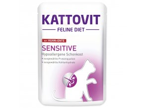 Kapsička KATTOVIT Sensitive kuře + kachna 85g