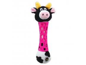 Hračka BeFUN TPR+plyš kráva puppy 17 cm