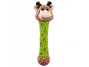 Hračka BeFUN TPR+plyš žirafa puppy 39 cm