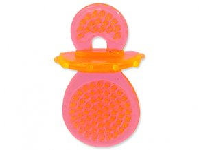 Hračka DOG FANTASY dudlík gumový oranžový 8 cm