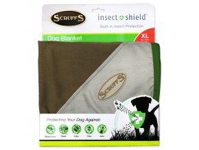 Deka SCRUFFS Insect Shield Blanket hnědá 145 x 110 cm
