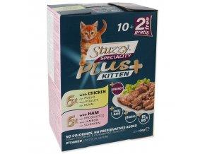 Kapsička STUZZY Speciality Plus pro koťata kuře, šunka multipack 1200g