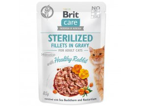 BRIT Care Cat Kaps. Sterilized Fillets in Gravy with Healthy Rabbit 85g