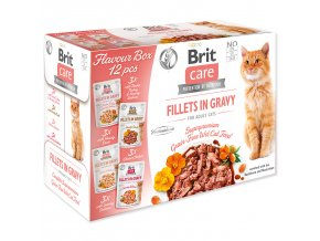 BRIT Care Cat Kaps. Flavour box Fillet in Gravy, 4*3 pcs. (12*85 g)