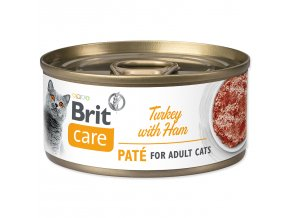 BRIT Care Konzerva Turkey Paté with Ham 70g