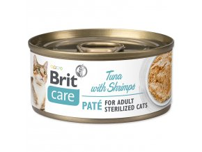 BRIT Care Konzerva Sterilized Tuna Paté with Shrimps 70g