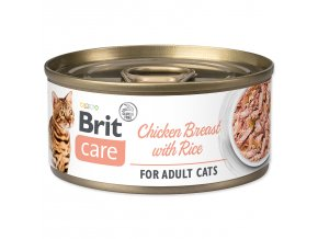 BRIT Care Konzerva Chicken Breast with Rice 70g