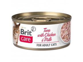 BRIT Care Konzerva Tuna with Chicken And Milk 70g