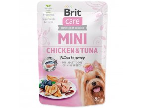 BRIT Care Mini Chicken & Tuna fillets in gravy 85g