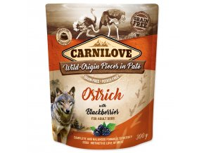 CARNILOVE Dog Paté Ostrich with Blackberries 300g