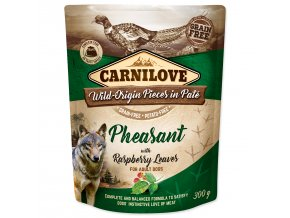 CARNILOVE Dog Paté Pheasant with Raspberry Leaves 300g