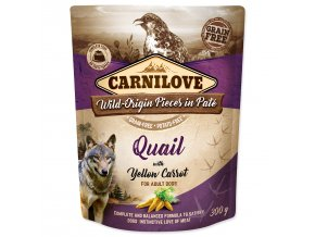 CARNILOVE Dog Paté Quail with Yellow Carrot 300g