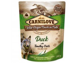 CARNILOVE Dog Paté Duck with Timothy Grass 300g