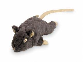 myš nobby catnip 19cm šedá