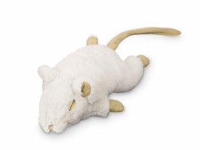 myš nobby catnip 19cm bílá